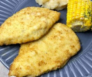 Air Fryer Breaded Chicken Cutlets