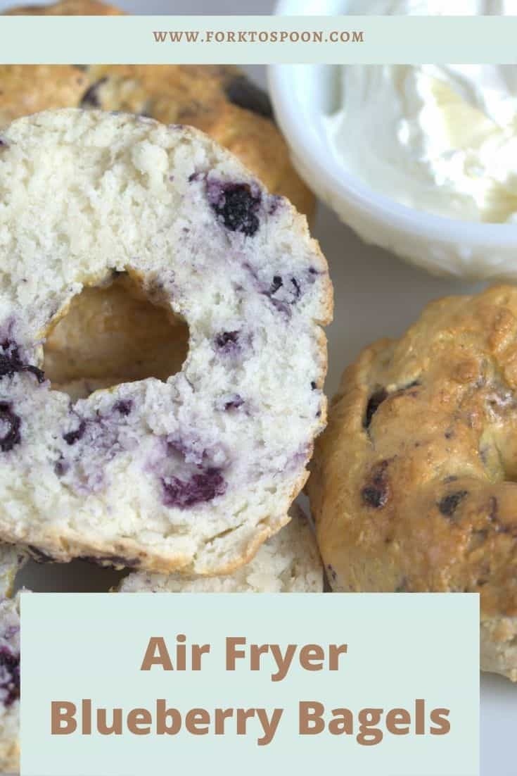 Air Fryer Blueberry Bagels