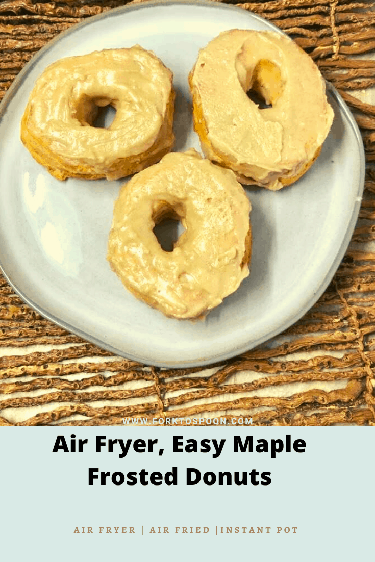 Air Fryer, Easy Maple Frosted Donuts
