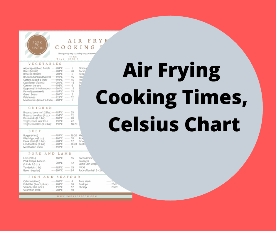 Air Frying Cooking Times Celsius Chart