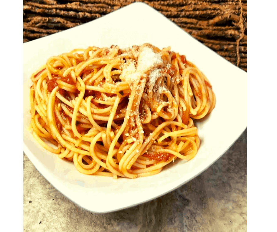Instant Pot, Spaghetti With Butter Tomato Sauce - Fork To Spoon