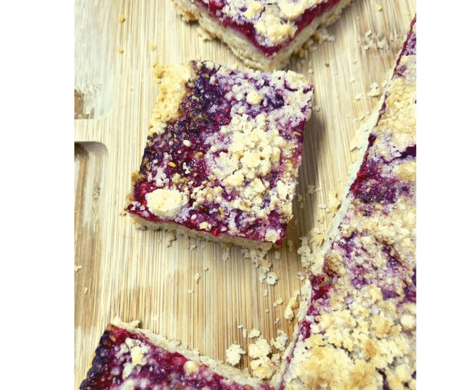 Air Fryer Raspberry Patch Crumb Bars