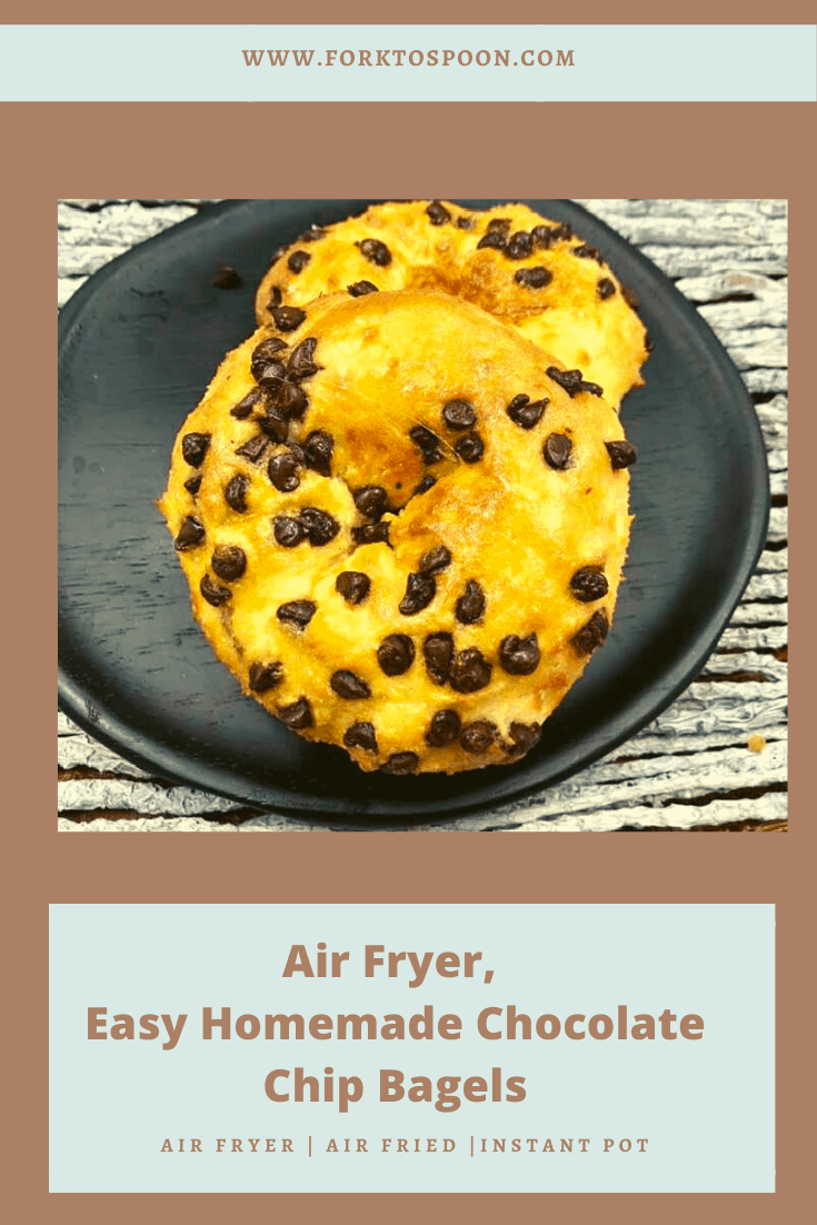 Air Fryer Chocolate Chip Bagels