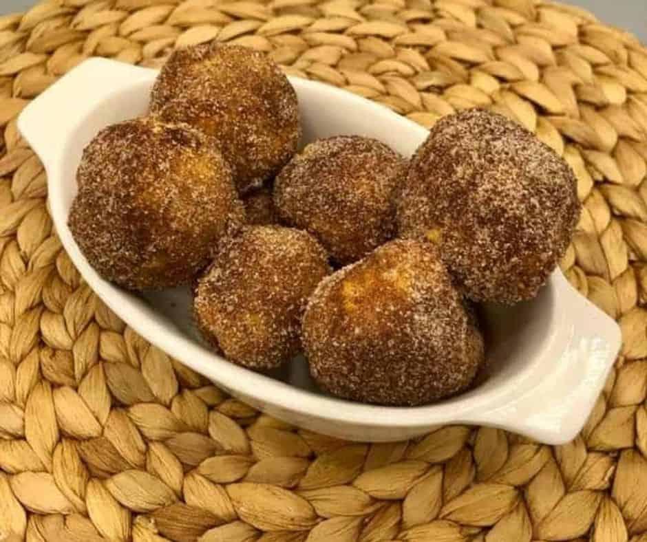Air Fryer Cinnamon Sugar Donut Bites