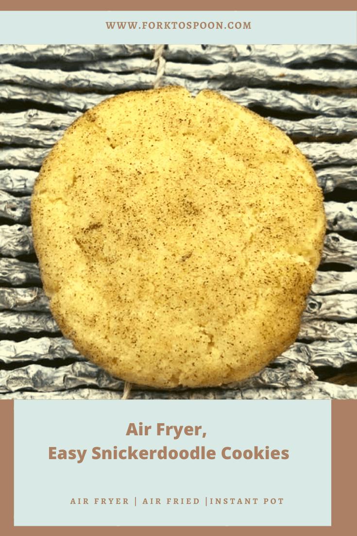 Air Fryer Snickerdoodle Cookies