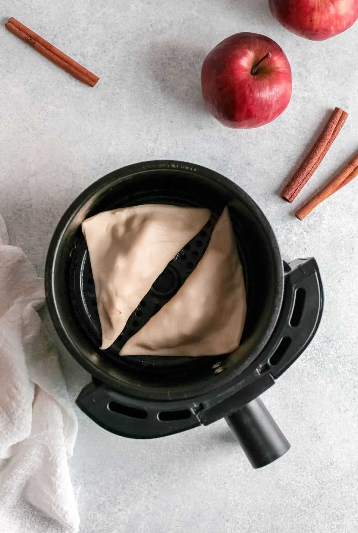 McDonald's Apple Pie in Air Fryer Basket