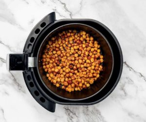 Air Fryer Onion and Garlic Roasted Chickpeas