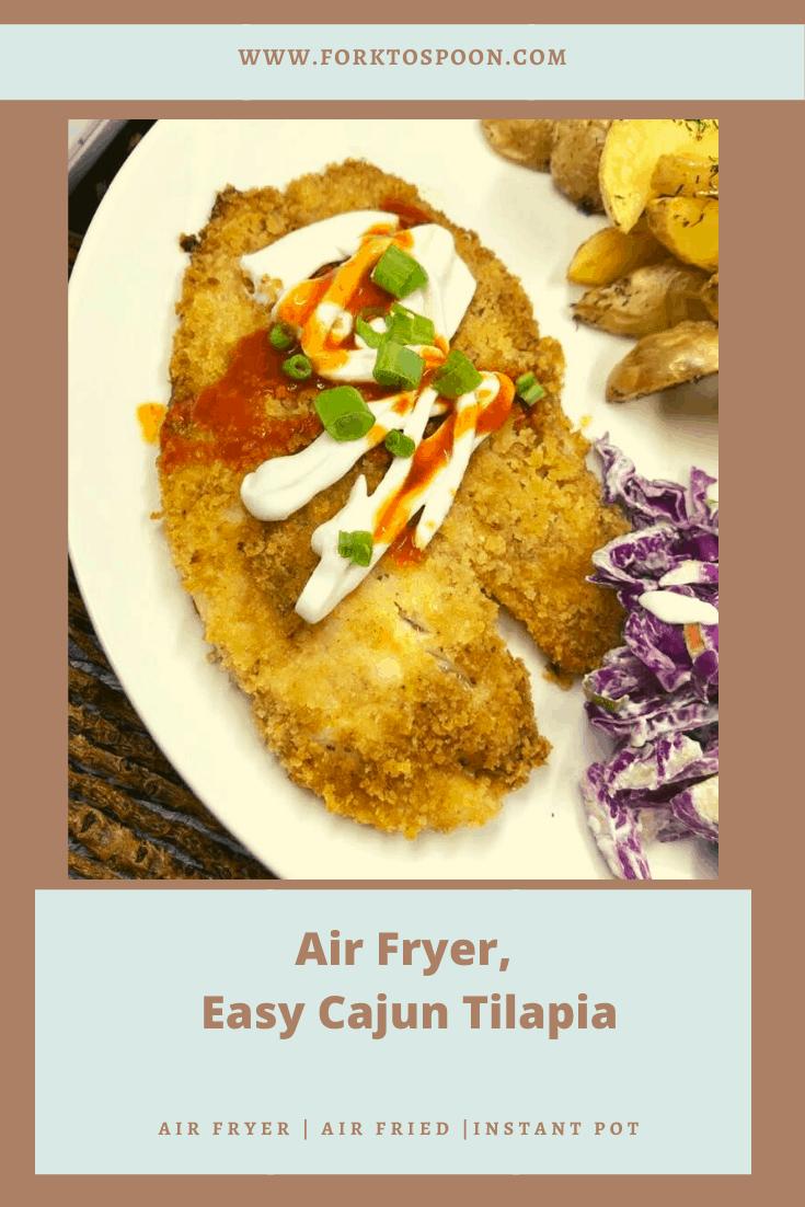 Air Fryer Cajun Tilapia