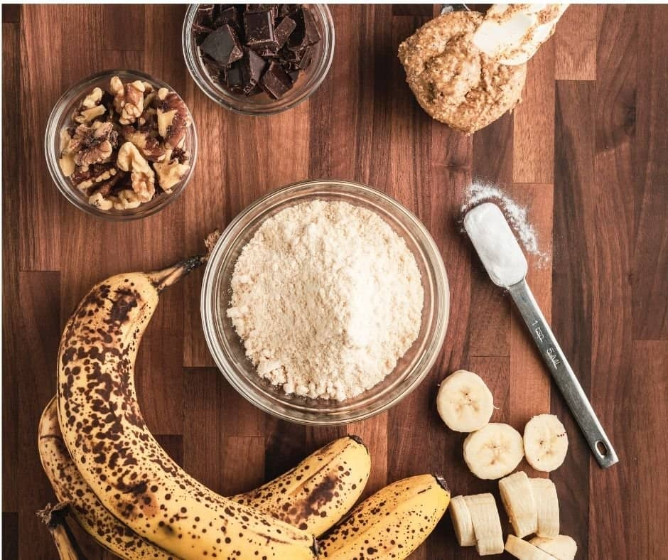 Ingredients Needed For Air Fryer Banana Walnut Pound Cake