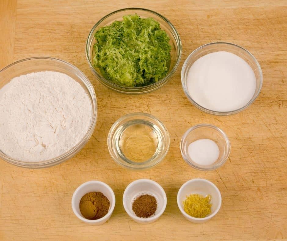 Ingredients in Air Fryer Zucchini Pumpkin Quick Bread