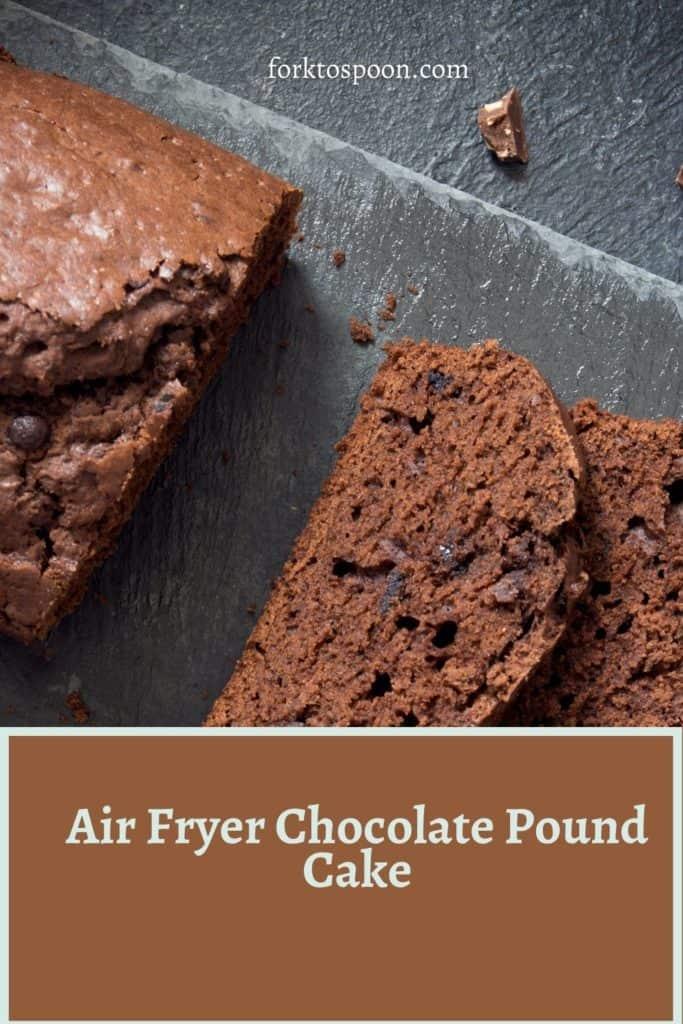 Air Fryer Chocolate Pound Cake
