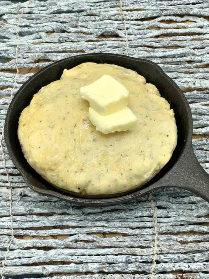 Air Fryer, Garlic Herb Quick Bread