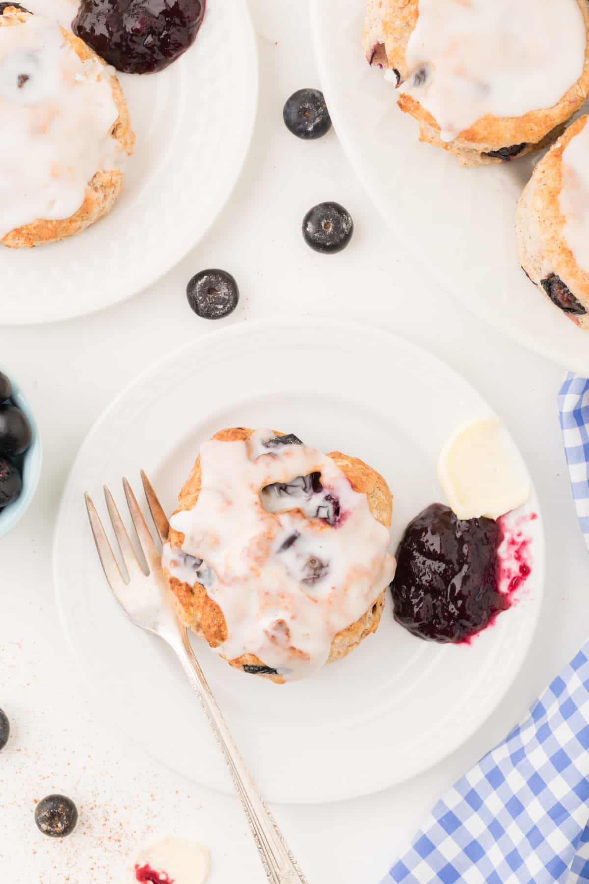 Air Fryer Blueberry Biscuits