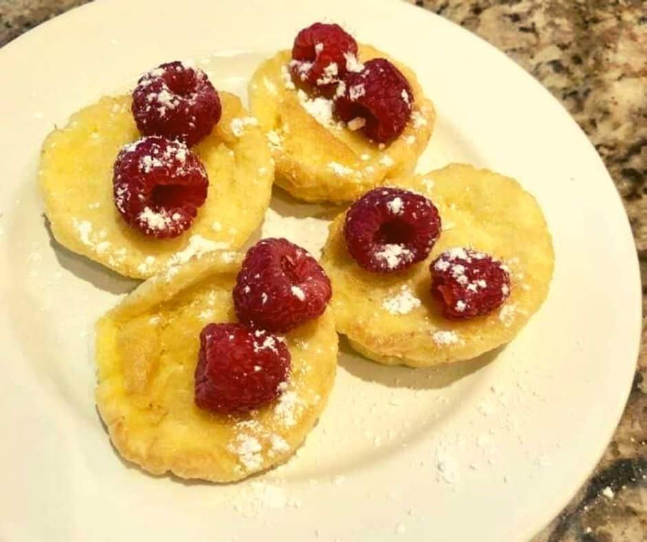 Air Fryer Raspberry Pancakes