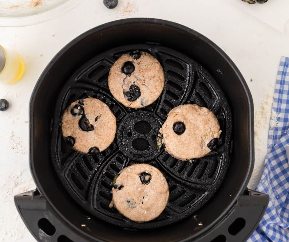 Blueberry Biscuits in Air Fryer Bas