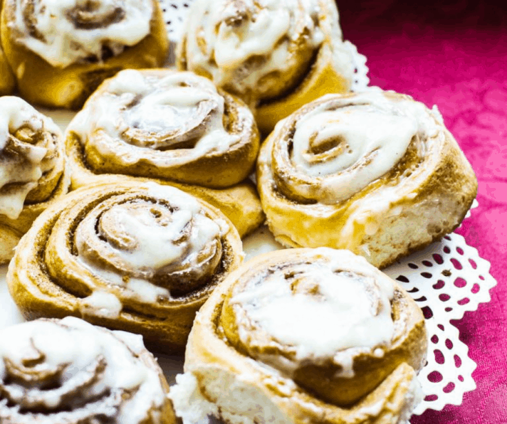 Air Fryer, Frozen Bread Dough Cinnamon Rolls