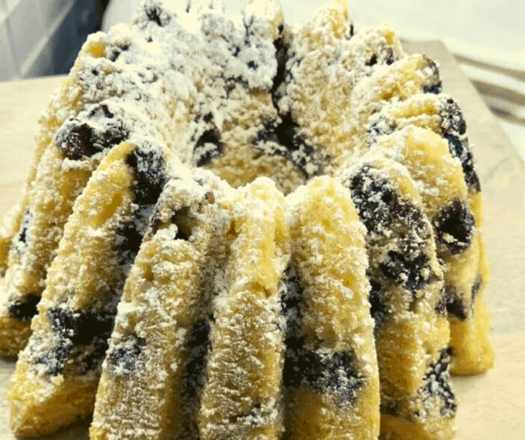 Air Fryer, Blueberry Buttermilk Bundt Cake