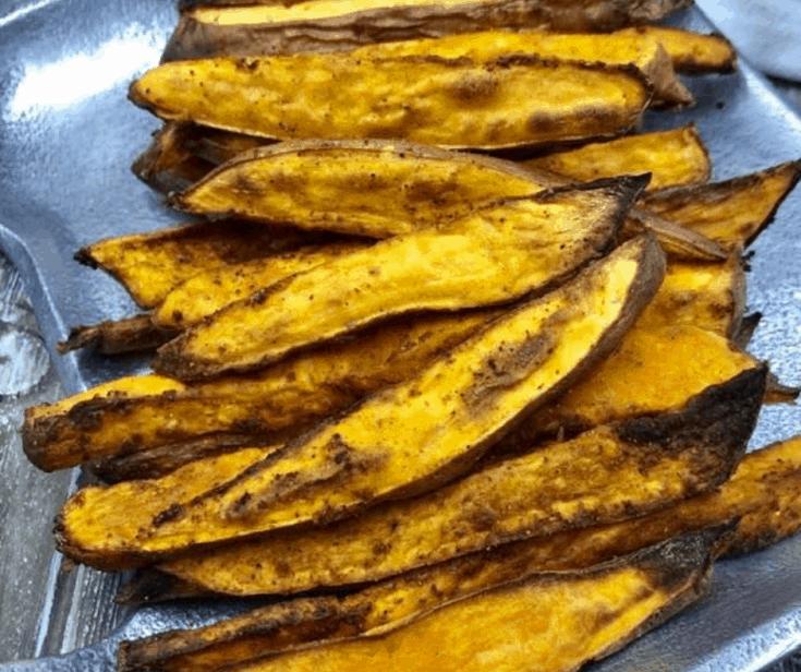 Air Fryer, BBQ Sweet Potato Wedges