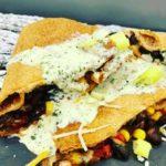 Air Fryer Black Bean & Corn Quesdailla