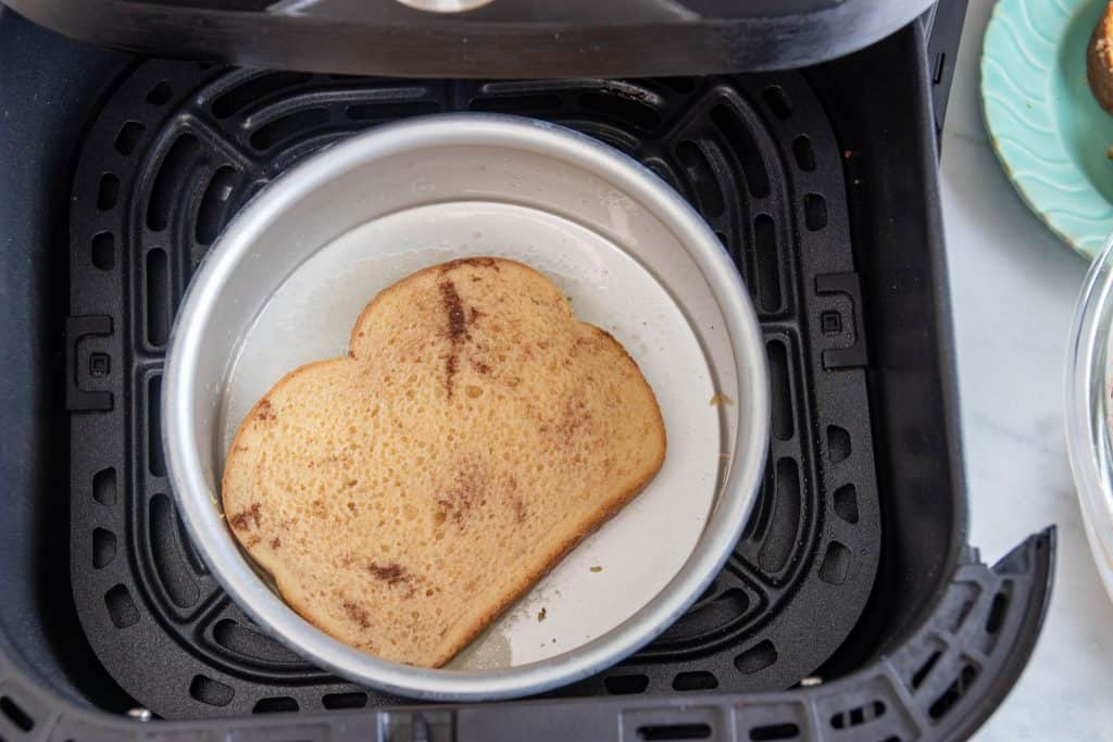 Air Fryer Pan with French Toast inside