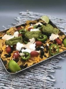 Air Fryer Loaded Chicken Nachos