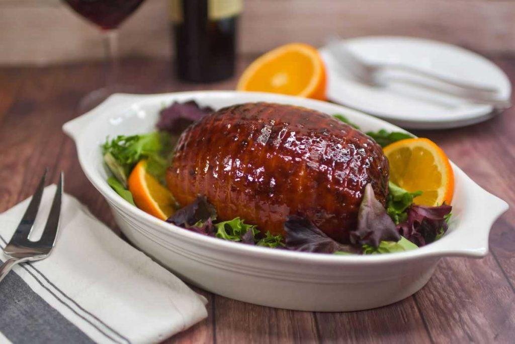 Air Fryer Honey Glazed Baked Ham