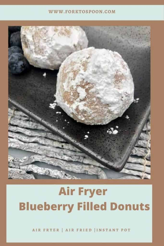 Air Fryer Blueberry Filled Donut Holes