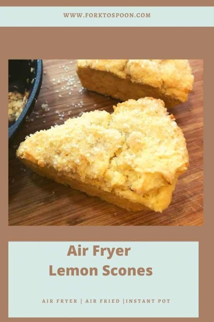 Air Fryer Lemon Scones