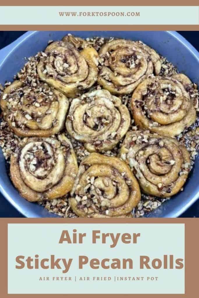 Air Fryer Sticky Pecan Rolls