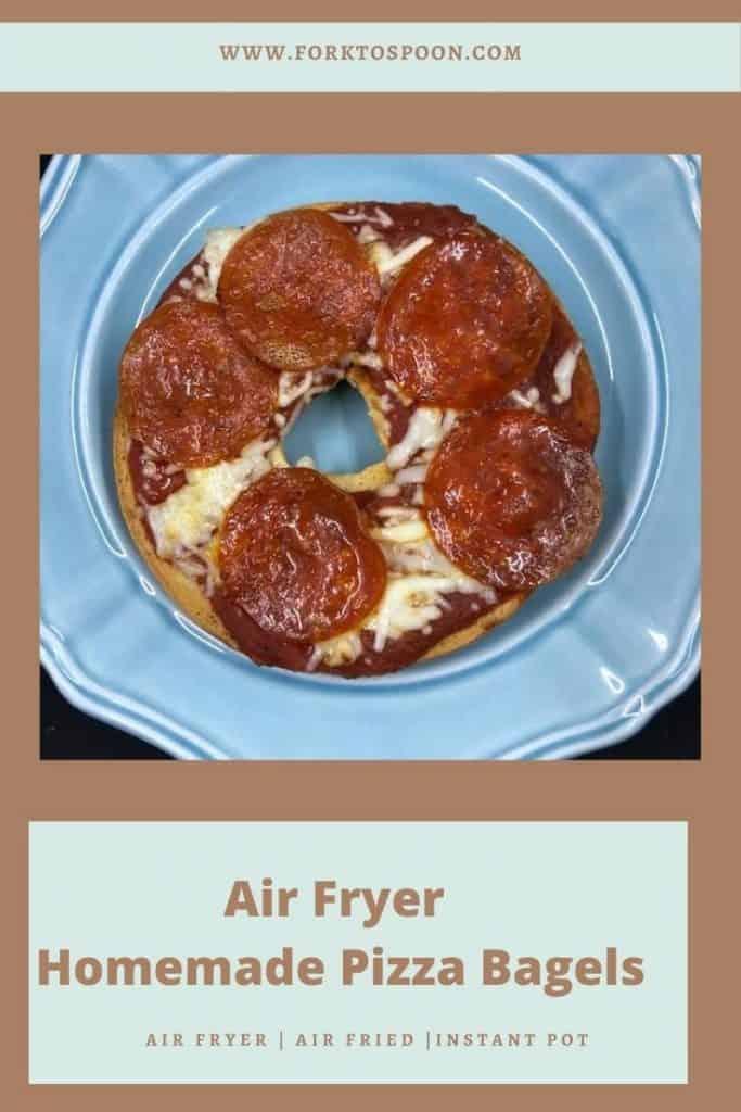 Air Fryer Homemade Pizza Bagels
