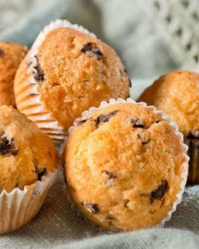 Air Fryer Jiffy Blueberry Muffins
