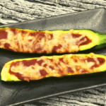 Air Fryer Zucchini Pizza Boats