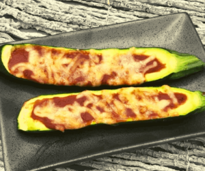 Air Fryer Zucchini Pizza Boats