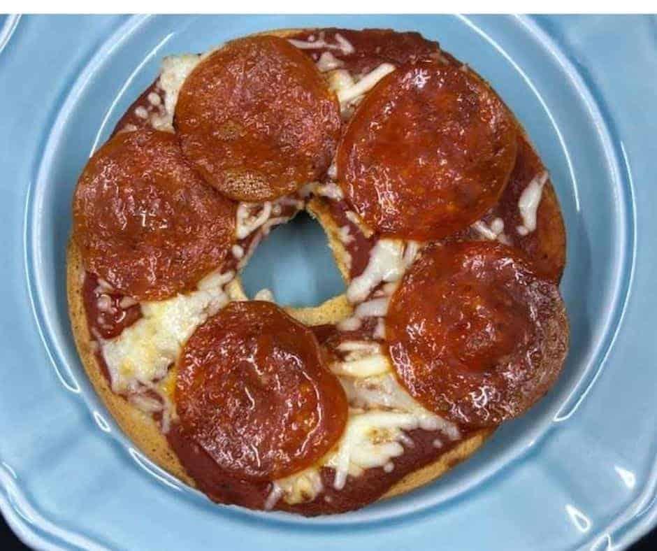 Air Fryer Homemade Pizza Bagel