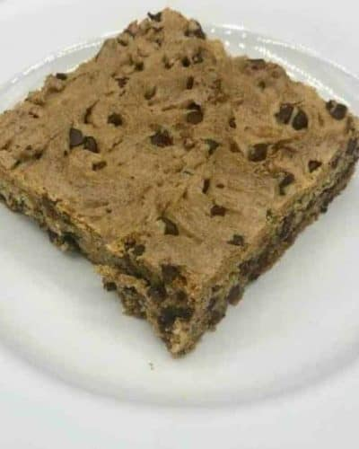 Air Fryer Cake Mix Chocolate Chip Cookie Bars