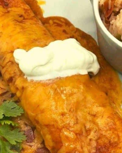 Air Fryer Beef Enchiladas