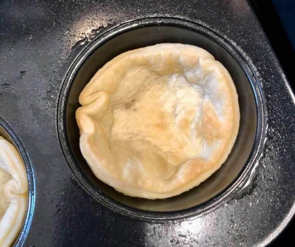 Crust Baked Mini Blueberry Pie