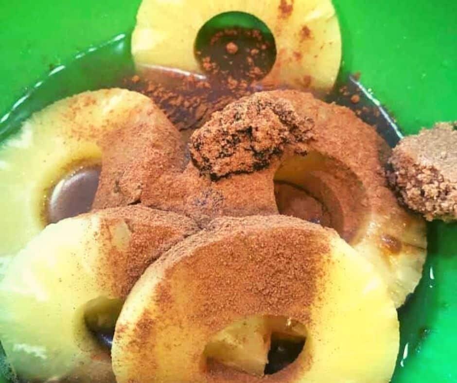 Soak Rum Air Fryer Pineapple