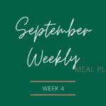 September Weekly Meal Plan