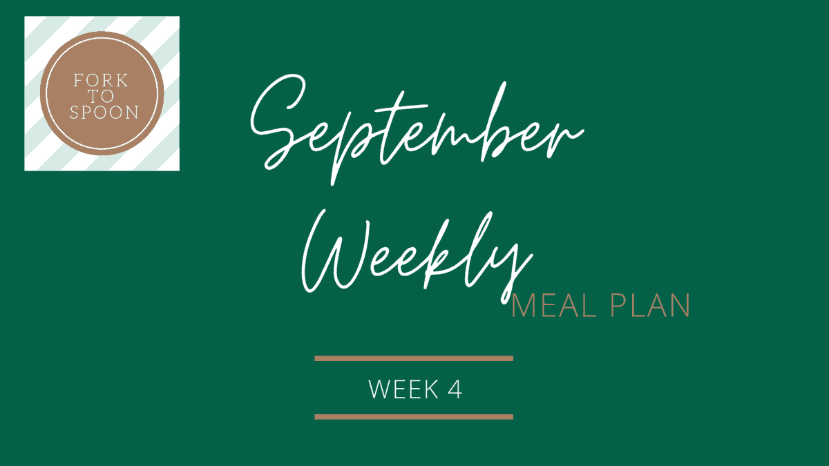 September Weekly Meal Plan