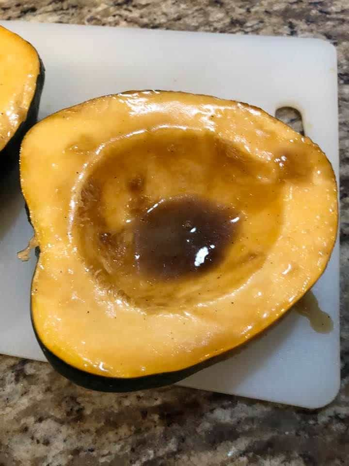 Acorn Squash With Brown Sugar Melted Butter