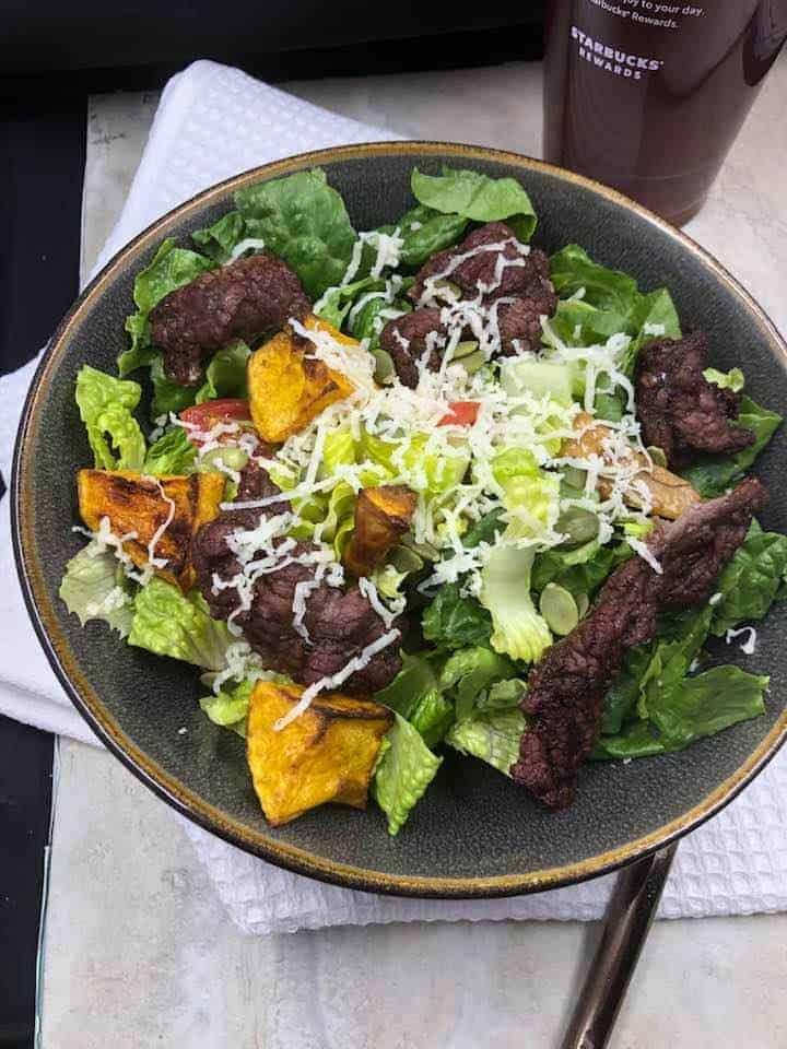 Air Fryer Steak Salad