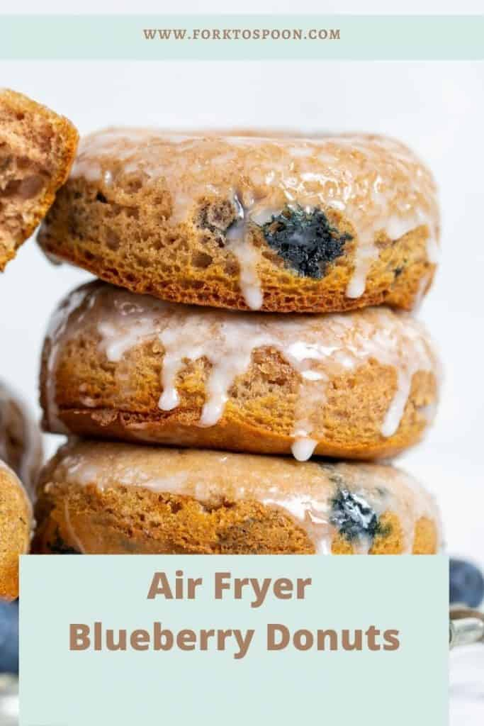 Air Fryer Blueberry Donuts