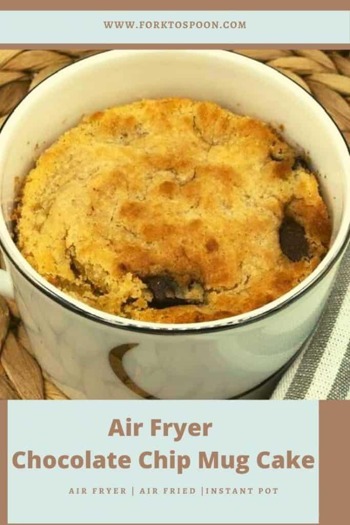 Air Fryer Chocolate Chip Mug Cake