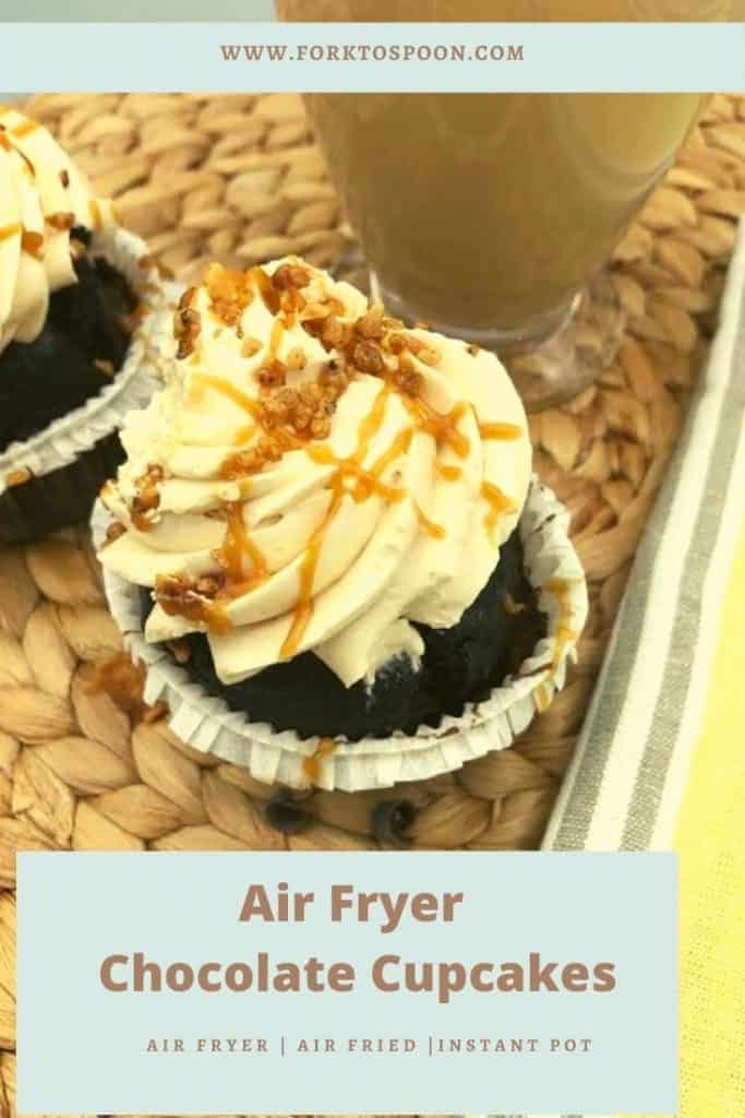 Air Fryer Chocolate Cupcakes
