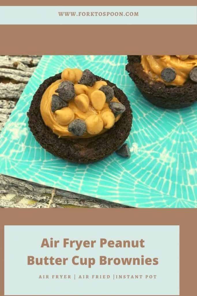 Air Fryer Peanut Butter Cup Brownies