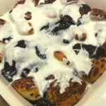 Air Fryer Blueberry Cinnamon Coffee Cake