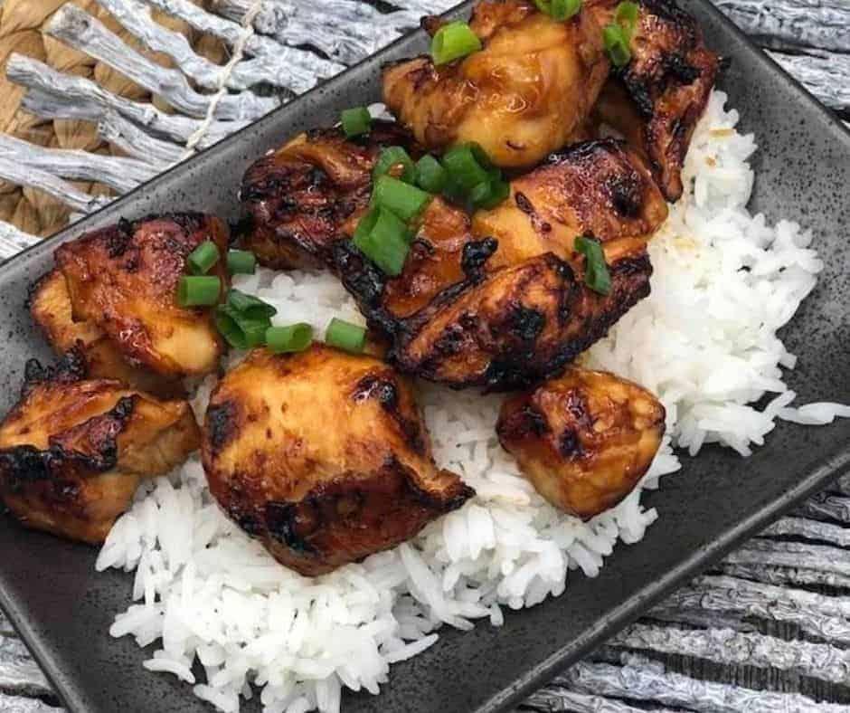 Air Fryer Teriyaki Chicken Fork To Spoon