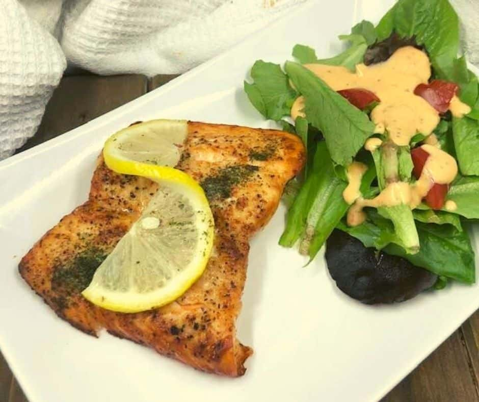 Air Fryer Honey Lemon Salmon