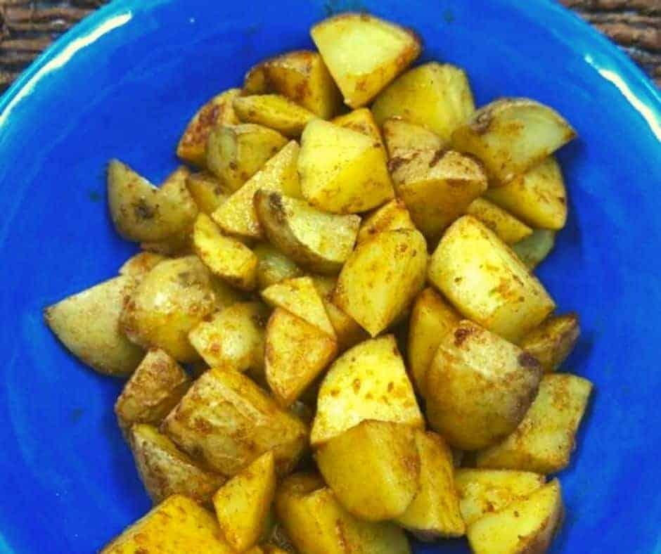 Air Fryer Herb-Garlic Roasted Potatoes